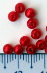 Pearls 4 mm ABS 1st quality red -50 grams ~ 1900 pieces