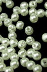 Μαργαριτάρια 3 mm ABS πρώτης ποιότητας λευκό -50 γραμμάρια ~ 9600 τεμάχια