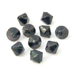 Перла 5.5x5.5 мм двойна пирамида черна -50 грама