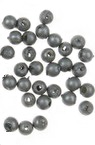 Faux Pearl Beads 3 mm hole 1 mm matt silver color -20 grams ± 1330 pieces