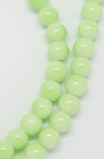 Glass beads strands for jewelry making 10 mm green ~ 80 cm ~ 85 pieces