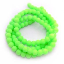 String glass rubber beads for jewelry making, DIY fringes of beads 8 mm hole 1 mm  green ~ 80 cm ~ 105 pieces