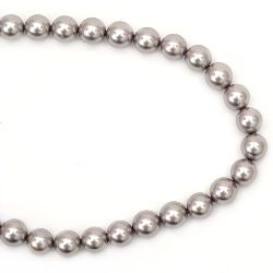 Наниз естествена перла 10 мм млечно кафява ~38 броя