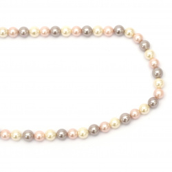 String natural pearl class A 8 mm ASSORTED ~ 49 pieces