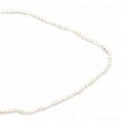 String Beads Natural Pearl 4~5mm Hole 0.5mm Class A Color Cream ~ 77 Pieces