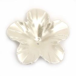 Pearl flower button 49x10 mm hole 2 mm cream color -20 grams ~ 7 pieces