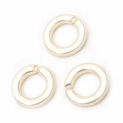 Inel perlă 18x3,5 mm culoare crem - 20 grame ~ 36 bucăți