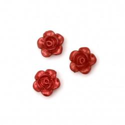 Λουλούδι χάντρα απομίμηση μαργαριτάρι 12x5 mm τρύπα 1,5 mm κόκκινο -20 γραμμάρια ~ 60 τεμάχια