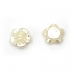 Pearl rose bead 12x5.5 mm hole 1.5 mm cream color -50 pieces