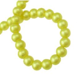 Glass pearl beads strands for jewelry making  6 mm hole 1 mm khaki ~ 80 cm ~ 105 pieces
