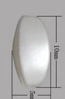 Ovale cu margine perlată 10x5x5 mm gaură 2 mm alb -20 grame