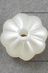 Flower Faux Pearl Beads 7x4 mm hole 2 mm white -50 pieces