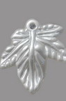 Pearl leaf pendant 20x20x3 mm hole 2 mm aquamarine -20 pieces