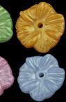 Λουλούδι χάντρα απομίμηση μαργαριτάρι 17x3 mm τρύπα 1,5 mm μίξη χρωμάτων - 20 γραμμάρια