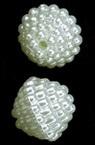 Ρόμβος χάντρα απομίμηση μαργαριτάρι 13x15 mm τρύπα 1 mm κρεμ -20 γραμμάρια ~ 17 τεμάχια