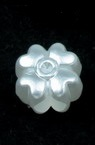Pearl flower 11x8 mm hole 4 mm color white -20 grams ~ 49 pieces