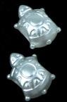 Perla broasca testoasa 14x9x8 mm gaură 4 mm culoare alb -20 grame ~ 59 bucăți