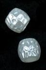 Perla forma  cilindru 8x9 mm gaură 4 mm culoare alb -20 grame ~ 61 buc