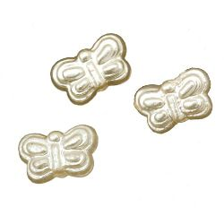Butterfly Faux Pearl Beads 9.5x6x3.5 mm hole 2 mm -20 grams