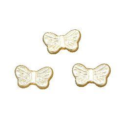 Perla tip  fluture 14x8x3,5 mm gaură 2 mm -20 grame