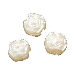 Faux Pearl Beads Rose 10x8x8 mm hole 4 mm -20 grams