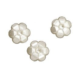 Faux Pearl Beads Flowers 40x4 mm hole 1.5 mm -20 grams