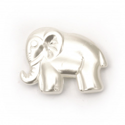 Elefant  perlat 23x29,5x6 mm gaură 2 mm -10 bucăți