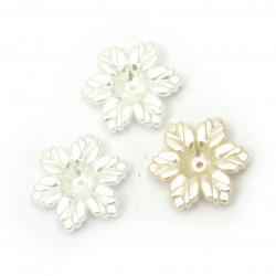 Floare  perle 20x5 mm gaură 1 mm MIX culori -50 bucăți