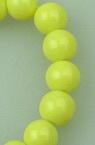 ΚΓυάλινες χάντρες απομίμηση μαργαριτάριου  6 mm ματ κίτρινο -80 cm ~ 150 τεμάχια