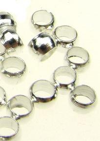 Bilă metalică stopare 3 mm gaură 2 mm culoare alb -200 buc