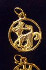 Зодии метални злато 18 мм в кръг -12 броя