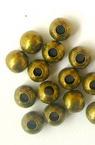 Bilă metalică 5 mm gaură 1,5 mm culoare bronz antic -100 piese