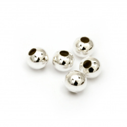 Топче метално бяло -8x4 ммдупка -50 броя