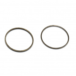 Metal ring 20x1 mm color antique bronze -25 pieces