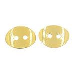 Nasture metalic cu margele 10x14x1 mm gaură 1 mm culoare aur -5 piese