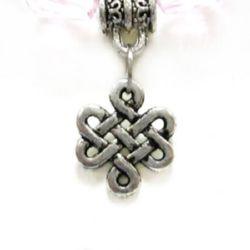 Свързващ елемент метал 17 мм дупка 1.5 мм цвят сребро -10 броя