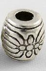 Margele cilindru metalic  6x6 mm gaură 2 mm culoare argintiu -20 bucăți