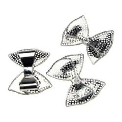 Metal element band 42x47x12 mm color silver -2 pieces