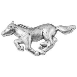 Metal element horse 23x11x3 mm color silver -10 pieces