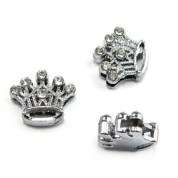 Crown for stringing metal crystals 10 mm hole 8 mm