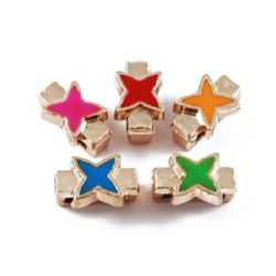 Acrylic star for jewellery making 14 x 8 x 7 mm MIX