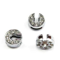 Scrisoare pentru coarde de cristale metalice gaură C 8 mm