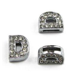 Scrisoare pentru cristale metalice cu coarde D gaură de 8 mm