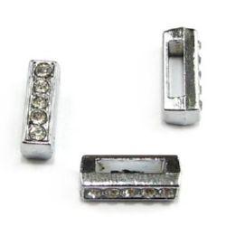 Litera pentru coarde de cristale metalice I gaură de 8 mm
