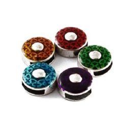 Metal stringing element - circle 14 x 6 mm