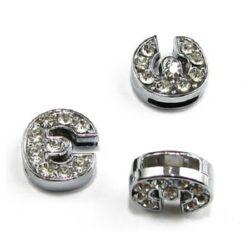 Litera pentru înșirare cristale metalice E gaură 8 mm