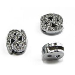 Зодия РАК за нанизване метал кристали 11 мм дупка 8 мм