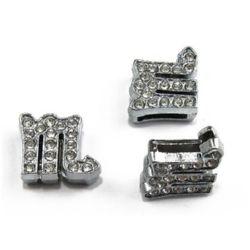 Зодия СКОРПИОН за нанизване метал кристали 11 мм дупка 8 мм