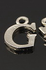 Metal letter G form - pendant for DIY accessories 14x10x1.5 mm - 5 pieces