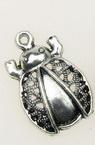 Pandantiv metalic gargarita 23x15x4 mm gaură 2 mm culoare argint vechi -10 bucăți